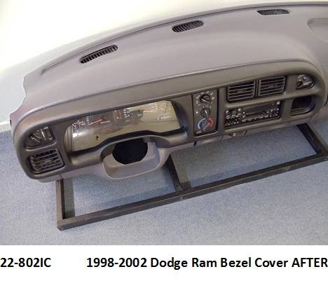 22-802IC  1998-2002 Dodge Ram Bezel Cover After