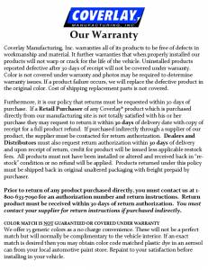 Our Warranty Cover